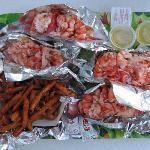 3 lobster rolls + sweet potato fries
