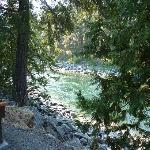 Wenatchee river behind cabin #1.