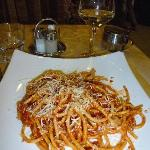 Botancini w/tomato sauce, bacon & onions