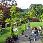 Sitout outside Elleray. You can get a view of the garden, and an idea of how private the place i