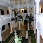 Inside entryway of each villa