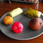 A delicious dessert plate of fruit