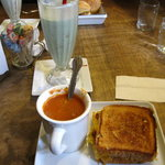 Tomato soup w/ grilled cheese sandy