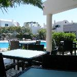 Interno del Resort con piscina
