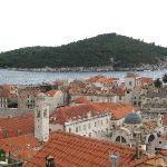 View from the walls over old Dubrovnik