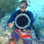 Christophe blowing air rings