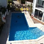 poolen från vår balkong
