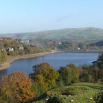 View over Toddbrook reservoir from Kinrara