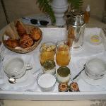 Plateau du petit-déjeuner