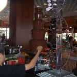 Chocolate fountain to please the sweet tooth..!!