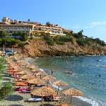 la plage et l'hotel