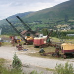 Preserved vintage cranes at Threlkeld