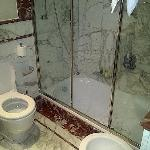 the badroom were you had to step down 1 meter to shower