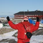 Part of Hotel Arctic in back ground