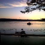 dawn over Quadra Island from Cabin 1