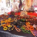 This vendor had a stunning collection of Bakelite jewelry.
