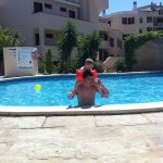 My Son and boyfriend in the pool