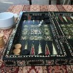 Mehmet's son taught us how to play tavla (backgammon)!