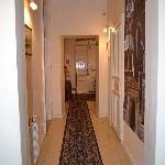 Hallway leading to or room; common PC is here