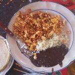 scrambled egg w/chorizo