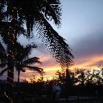 Sunset at Tiki Hut  Wed. rib night = Great