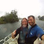 Roby e Laure sulla barca