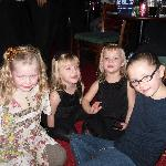 Leigh, Megan, Mya and Olivia having a rest at half time at The Legends Show Sept 2011