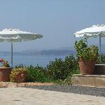 view of the sea from the pool area