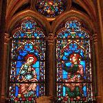 windows / statue of St Louis
