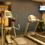 Stay in shape while on the road at the hotel's 24-hour fitness center.