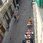 View from room 1 of Via Faenza and Katti House Trattoria