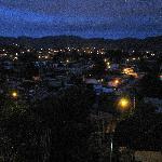 Vista nocturna de San Cristobal desde la cabaña