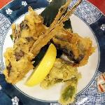 夕食 トビウオの天ぷら
