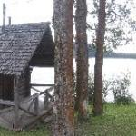 Lakeside cabins are more rustic...