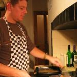 Ricky preparing our food - after shock