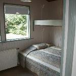 Double bed and bunkbed