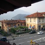 Vista del lago di Como dalla camera