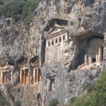 Ancient carved tombs