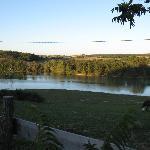 back view towards lake