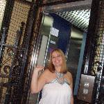 En el elevador