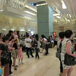 Typical crowd in foyer. Reminds me why I don't do group tours.
