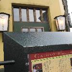 Front door and menu