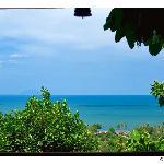 Vue du golfe de Siam par la fenêtre de la suite Khmère