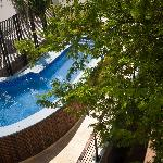 View of pool from suite balcony