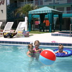 Bring the whole family and soak up the Florida sun in the hotel's large heated pool.