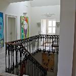 Artwork on the top floor