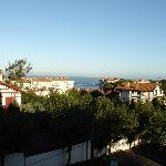 Vue sur mer du balcon
