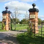 The impressive entrance