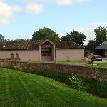 Looking towards the Barns' Quadrangle