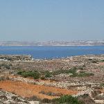 Payasage proche de l'hôtel, vue sur Gozo et Comino